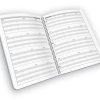 Open spread spiral-bound grade book with seating chart.